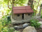 Minature replica of the log cabin